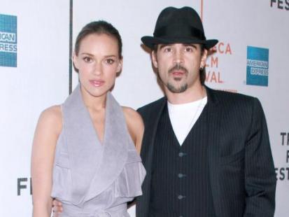 Alicja Bachleda-Curuś i Colin Farrell podczas Tribeca Film Festival