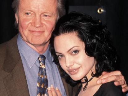 Angelina Jolie z ojcem Jonem Voight'em