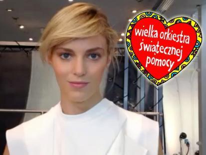Anja Rubik też wspiera Wielką Orkiestrę Świątecznej Pomocy