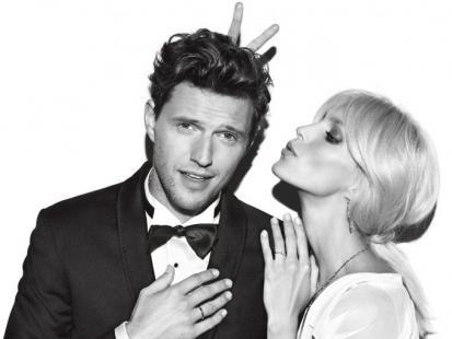 Anja Rubik z mężem reklamują obrączki Apart