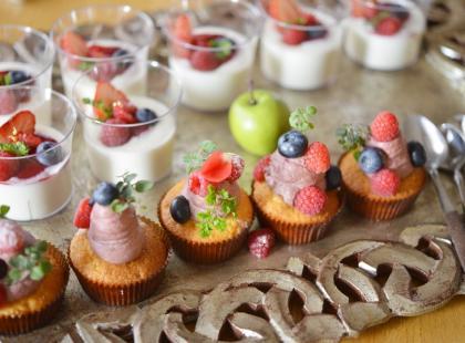 Babeczki owocowe z bitą śmietaną- kruche i pyszne!