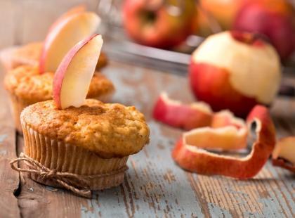 Babeczki z nadzieniem jabłkowym