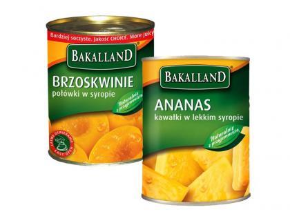 Bakalland - Brzoskwinie i ananas w puszce
