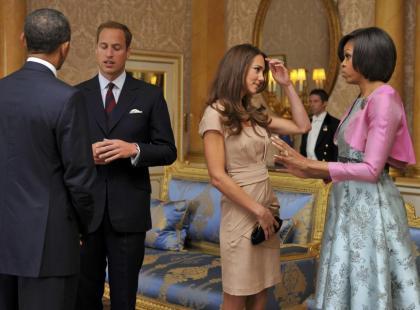 Barack Obama z żona spotkał się z księciem Williamem i księżną Catherine