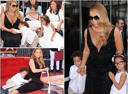 Bardzo znudzone dzieci Mariah Carey skradły uwagę fotoreporterów