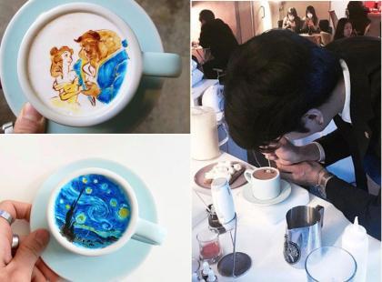 Barista tworzy na kawie miniatury dzieł sztuki. To absolutny hit Instagrama