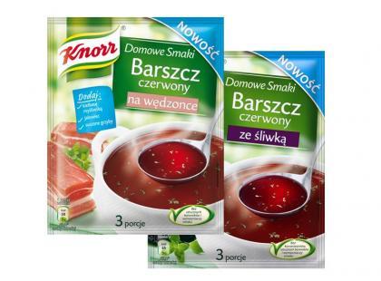 Barszcz czerwony ze śliwką i Barszcz czerwony z wędzonką Knorr
