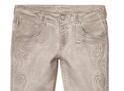 Beżowe spodnie rurki- H&M wiosna 2013