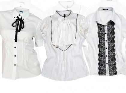 Białe bluzki -  rok szkolny czas rozpocząć