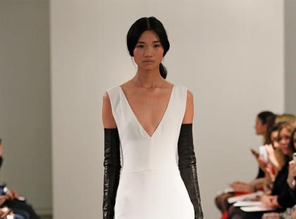 Biało-czarne suknie ślubne od Very Wang - wiosna 2014
