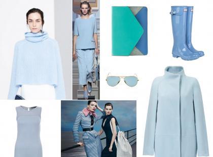Błękit - modny kolor na jesień 2013
