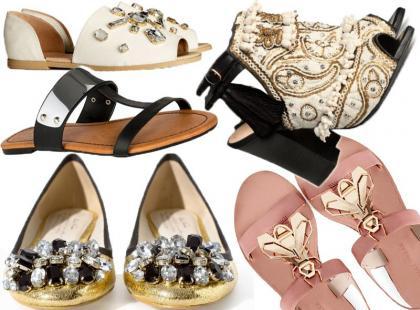 Bling, bling! 25 par butów z ozdobnymi aplikacjami
