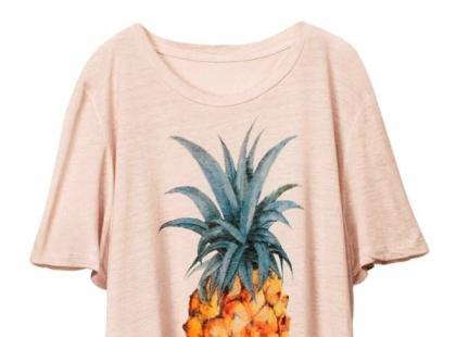 Bluzka z ananasem- H&M wiosna 2013