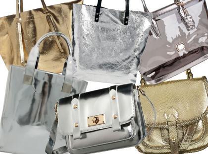 Błysk idealny na co dzień: metaliczne torby