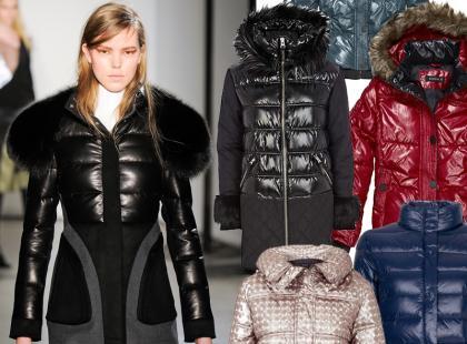 Błyszczące kurtki są trendy!