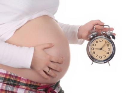 Bóle brzucha pod koniec ciąży