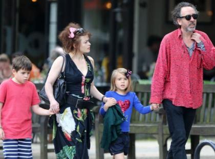 Bonham Carter i Burton: Najbardziej ekscentryczna rodzina w Hollywood na spacerze
