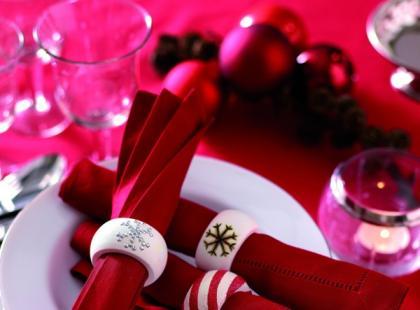 Bożonarodzeniowe obrączki na serwetki - krok po kroku