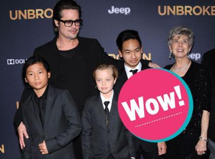 Brad Pitt pokazał dzieci!