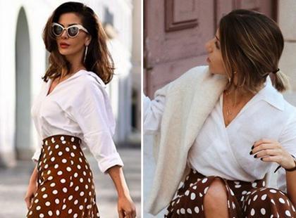 Brązowa spódnica w grochy hitem Instagrama. Kupisz ją w znanej sieciówce!