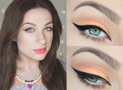 Brzoskwiniowy makijaż na wiosnę krok po kroku
