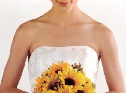Bukiety ślubne ze słoneczników