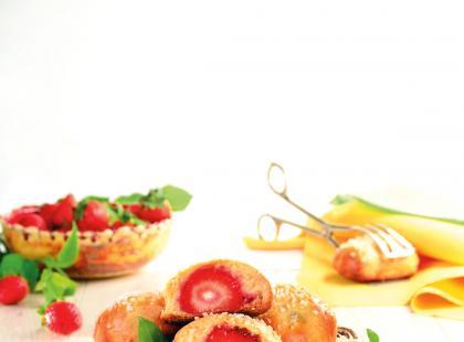 Bułeczki z truskawkami