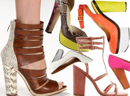 Buty na słupku - 30 najmodniejszych par na wiosnę i lato 2013