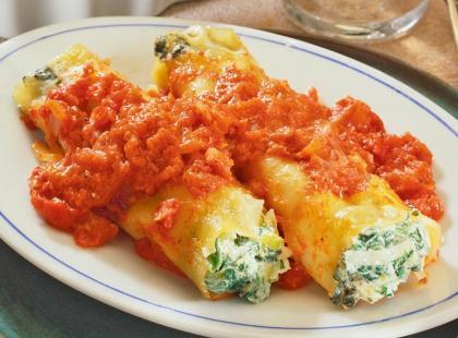 Cannelloni z farszem szpinakowym