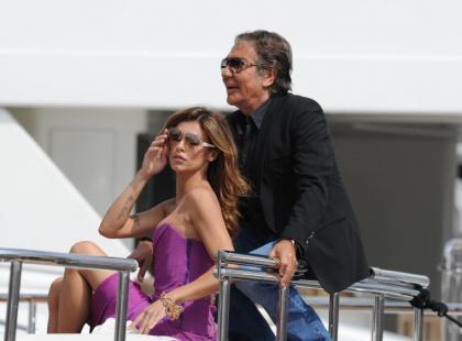 Cannes: Elisabetta Canalis bawiła się na jachcie Roberto Cavalliego