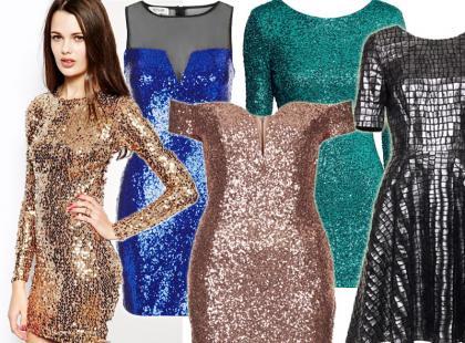 Cekinowe sukienki na Sylwestra