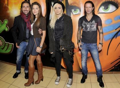 Celebryci na otwarciu salonu tatuaży Radka Majdana