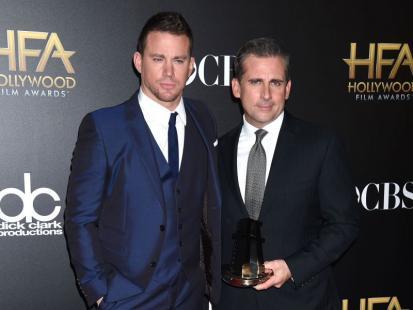 "Channing Tatum i Steve Carell w filmie ""Foxcatcher"""