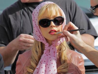 """Christina Aguilera na planie filmu """"Burlesque"""""""