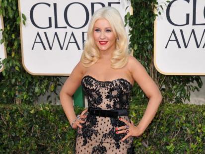 Christina Aguilera na rozdaniu Złotych Globów 2011