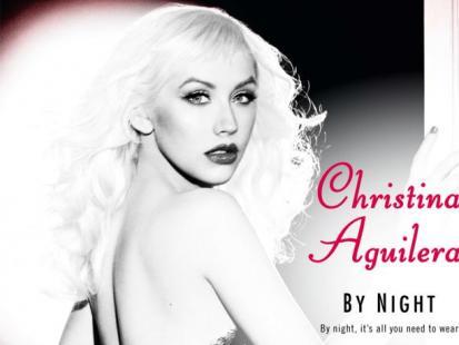 """Christina Aguilera w reklamie perfum """"Christina Aguilera by Night"""""""
