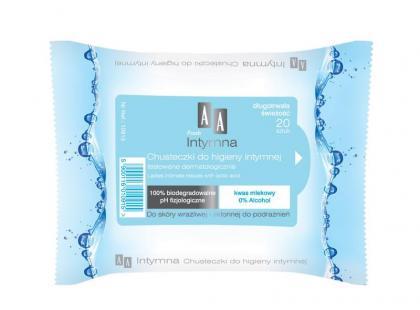 Chusteczki do higieny intymnej AA