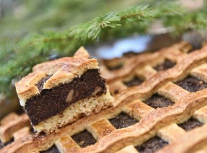 Ciasto francuskie z makiem i serem - krok po kroku