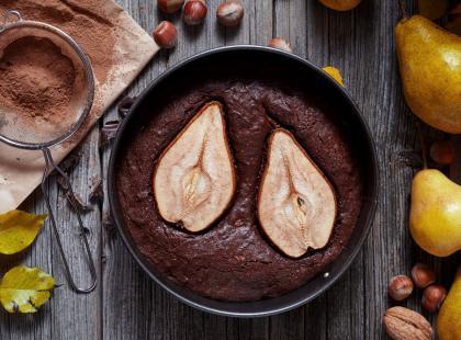 Ciasto z czekoladą i gruszkami