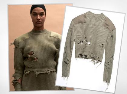 Co myślicie o ostatnim krzyku mody? Dziurawy sweter za krocie...
