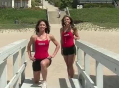 Ćwiczenia na plaży - video