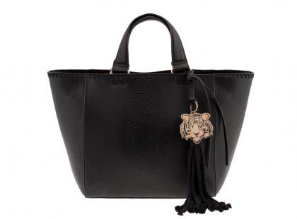 Czarna shopper bag Parfois