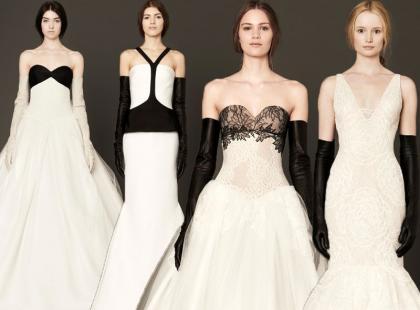 Czarno na białym, czyli najnowsze suknie ślubne od Very Wang