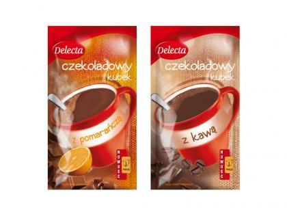 Czekoladowy kubek z pomarańczą lub kawą