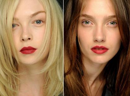 Czerwień ust - Makijaż z wybiegu