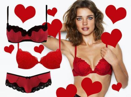 Czerwona bielizna na Walentynki