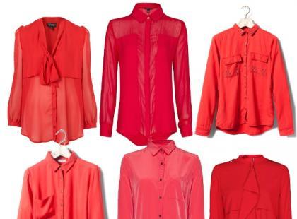 Czerwona koszula w stylizacjach
