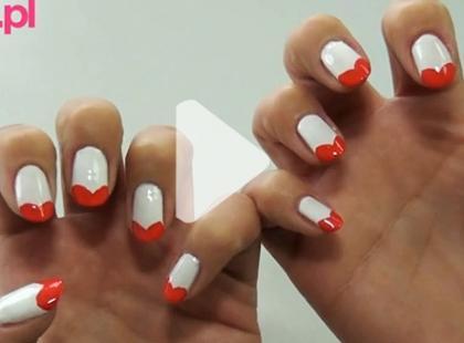 Czerwone serduszka - słodki manicure [video]