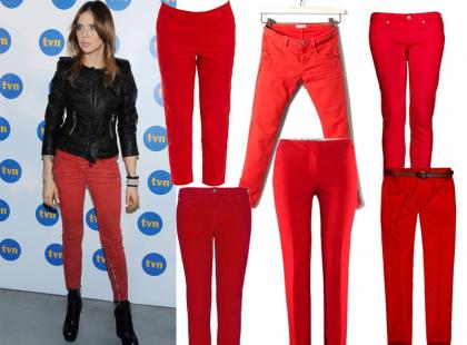 Czerwone spodnie z polskich sklepów już od 39zł