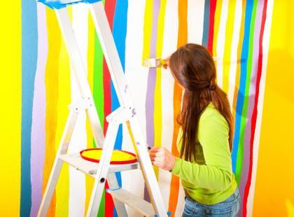 Czy można farbą emulsyjną malować przez szablon?